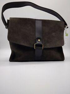 John Lewis Saddle Bag Suede Brown L23 B30