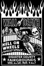 Vintage Motorcycle Shirt Race - Circus Shirt Wall of Death Large Indian Harley