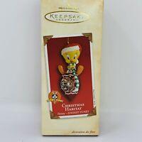 Hallmark Keepsake Ornament Looney Tunes TWEETY Bird Christmas Habitat 2002