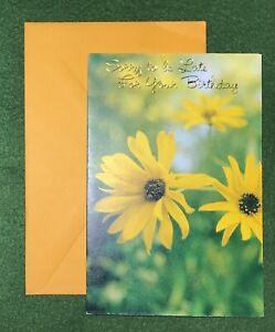 vintage Greeting Card Belated Birthday 70s art nostalgic UNUSED with envelope