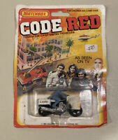 Vintage 1981 Lesney Matchbox Code Red Police LAPD Motorcycle, SIP, Rare! HTF!