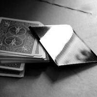 B002 Close-Up Magic Street Trick WOW Plastic Card Vanish Illusion Sleeve +DVD