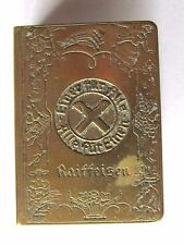 RARE ANTIQUE MATCH BOX COVER ADVERTISING GERMAN RAIFFEISEN BANK FARMER LOAN