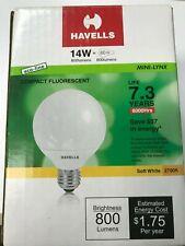 Havells Mini-Lynx 14Watt #MLS14/827G25, 2700K Globe Compact Fluorescent