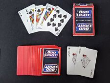 💥 🔥 Vtg. Bud Light / Souvenir ~ Playing Cards Complete