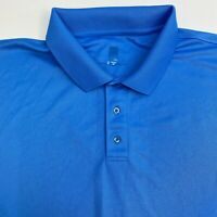 Pga Tour Polo Shirt Mens XXL Blue Short Sleeve Casual Golf