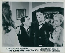 The Young Have No Morals lobby Card Charles Aznavour Jacques Charrier