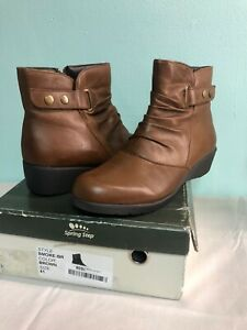 Spring Step Smore Stockholm Ankle Bootie Brown Womens 41 EU US 9.5-10 M