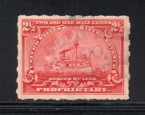 Scott # RB28p, Used, VF, 2½¢ Battleship, American Ferment Co., Jersey City, NJ