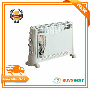 Daewoo 2000 W Portable Electric Turbo Convector Heater With 24H Timer - HEA1137