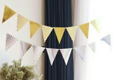Party :  Flag Banner Banderitas  Party Decor Gold / Silver