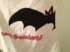 NWT WHITE CAMI TANK TOP BLACK BAT Good Morning Halloween s/m