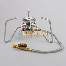Portable Gas Steel Stove Butane Burner w/Hose For Picnic Cookout Outdoor Camping