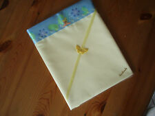 One Handmade Baby Pale Yellow Polycotton Sheet-Tinkerbell satin Crib/moses