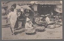 1909 Netherlands Indies RPPC Postcard Cover to Newfoundland Market Vendors
