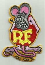 "OFFICIALLY LICENSED ED ""BIG DADDY"" ROTH RAT FINK HOT ROD PATCH PINK & RED"