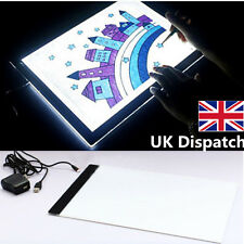 A4 LED Stencil Board Light Box Artist Thin Art Draw Tracing Copy Plate UK Seller