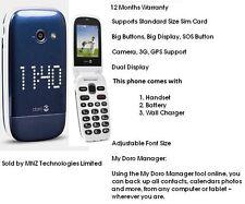 Doro Phone Easy 632 Flip Fold Big Button Big Display Unlocked 3G Mobile Phone