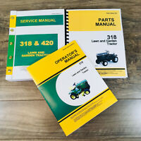 SERVICE MANUAL SET FOR JOHN DEERE 318 LAWN GARDEN TRACTOR PARTS OPERATORS TECH
