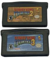 Donkey Kong Country 2 & 3 Nintendo GameBoy Advance GBA Cartridge Only
