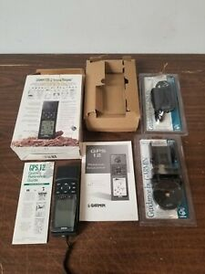 Garmin GPS 12 Open Box with New Mount and Cigarette Lighter Car Adapter Bundle