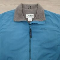 LL Bean Women's Three Season Jacket Size Medium Fleece Lined Made in USA Blue