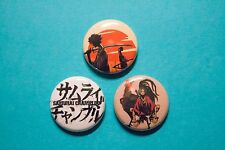 "3 1"" Samurai Champloo Mugen Jin Anime Japan Manga - pinback badges buttons"