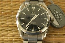 OMEGA 2518.50 STAINLESS AQUA TERRA 300M BLACK DIAL QUARTZ DIVERS WATCH & BOX SET