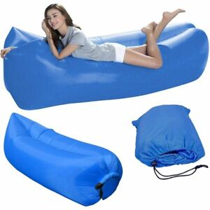 Aufblasbares Luftsofa Bag Sitzsack 220x70x50 Air Lounger Liege Strand Campen XXL