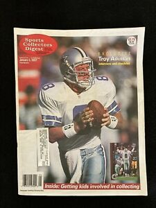 1997 Sports Collectors Digest magazine / SCD / Troy Aikman / Top stories of '96