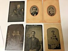 6 Antique Tintypes of People