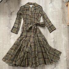 Diane Von Furstenberg DVF tartan Bauer two-piece wrap dress UK14