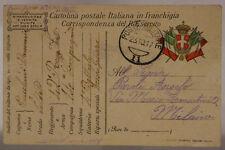 POSTA MILITARE 11 FRANCHIGIA 23.10.1917 #XP336E
