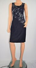 NWT New ST JOHN Blue Floral Knit Sheath Career to Cocktail Dress Size 6 -  $995