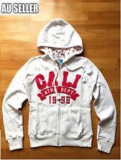 Women's Top Zip Jacket White Hoodie Jumper Causal Fleece Pullover Sweater