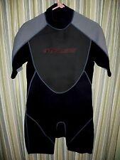 New listing Stearns 2mm Neoprene Wetsuit Surf Wet Suit Men's Large. Blacks Gray Red ez zip