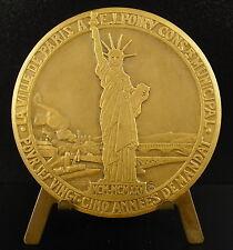 Medaille sc Emile Monier Justin Poiry Statue de la liberté of liberty 1925 Medal
