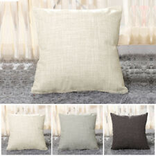 Linen Throw Cushion Covers Protectors Faux Pillow Home Decor 43cmx43cm