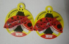 4 tweezer lot TRIM MINI TWEEZERS SLANT & POINT TIPS ladybug SEALED NIP