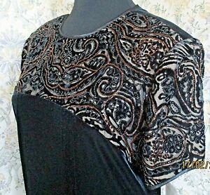 Vintage black sheen velvet party dress by JEFFREY & DARA TOM BARRA Size 18