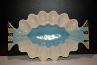 Vintage Retro Deviled Egg Serving Platter Howard Kron RAG Kron Registered Rare