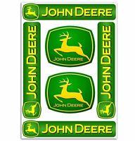 Set 6 PVC Vinyle Autocollants John Deere Tracteur Agricole Stickers Voiture Auto