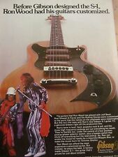 Ron Wood, The Rolling Stones, Gibson Guitars, Full Page Vintage Promotional Ad