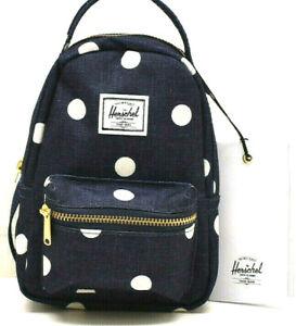 Herschel Supply Company Small Crossbody Backpack Handbag Polka Dot Peacoat NEW!