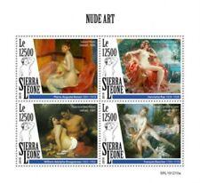 Sierra Leone - 2019 Nude Dipinti - 4 Francobollo Foglio - SRL191210a