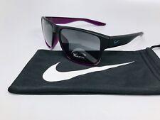 New NIKE SUNGLASS EV1002 050 Matte Black & Purple ESSENTIAL VENTURE w/Nike Bag