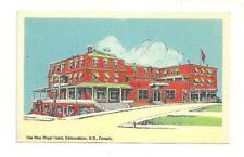 THE NEW ROYAL HOTEL, EDMUNDSTON, NEW BRUNSWICK, CANADA PHOTO POSTCARD