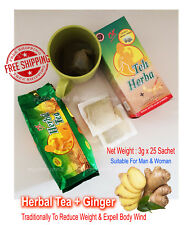 Traditionally Herbal Tea Ginger Sachet Reduce Weight Expell Body Wind Detox
