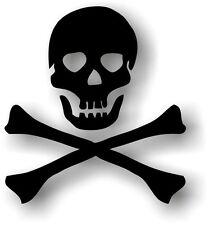 aufkleber sticker auto motorrad scooter pirat korsar schwarz