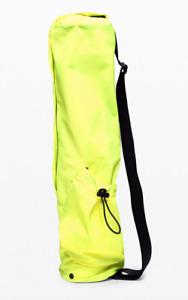 NEW lululemon The Yoga Mat Bag 16L Highlight Yellow Carrier Yoga Bag Tote - NWT